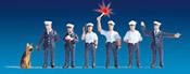 German Police Officers, blue uniform,