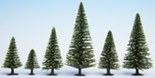 Model Spruce Trees, 25 pieces, 3,5 - 9 cm high