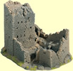Castle Ruin, 18 x 14 cm, 12 cm high