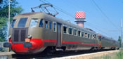 Italian Electric Railcar Ale 540,014 & Le 680,002 & Le 760,010 of the FS