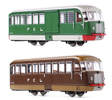 Italian 2pc Railcar Set Emmina M1 32 & M1 11 (baggage)  FCL