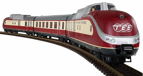 Piko 37320 - German 3pc Multi Unit Train TEE VT 11.5 of the DB