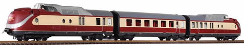 Piko 37321 - German 3 Piece Diesel Railcar 602 TEA of the DB