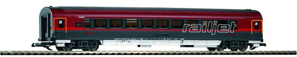 Piko 37665 - Austrian Era VI 2nd Class Railjet Coach (G-Scale)