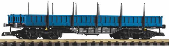 Piko 37763 - Low-Side Gondola w/Stakes Res, Blue
