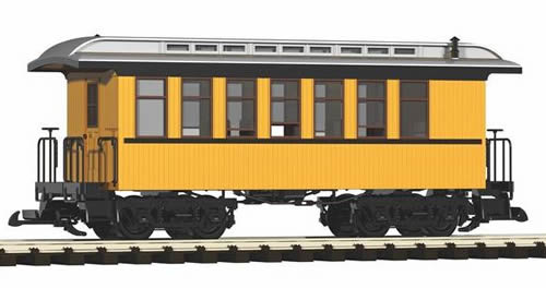 Piko 38600 - D&RGW Wood Coach 306, Yellow