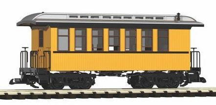 Piko 38610 - D&RGW Wood Coach 320, Yellow