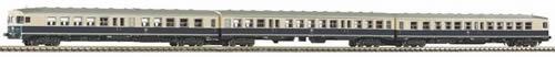 Piko 40261 - N BR 624 Diesel Railcar 3-Unit DB IV Ocean Blue