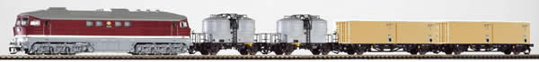 Piko 47010 - German Train Set with Deisel Locomotive BR 130 & Freight Cars of the DR