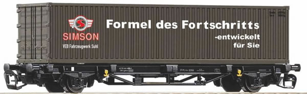Piko 47722 - Container carrier wagon Lgs579 Simson of the DR