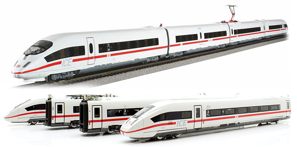 Piko 51403 - 4pc German Electric multiple unit BR 412 ICE 4 of the DB AG (Sound)