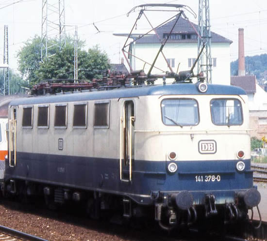 Piko 51516 - German Electric Locomotive BR 141 of the DB - blue/beige