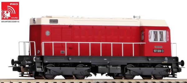 Piko 52423 - German Diesel locomotive BR 107 of the DR (Sound)