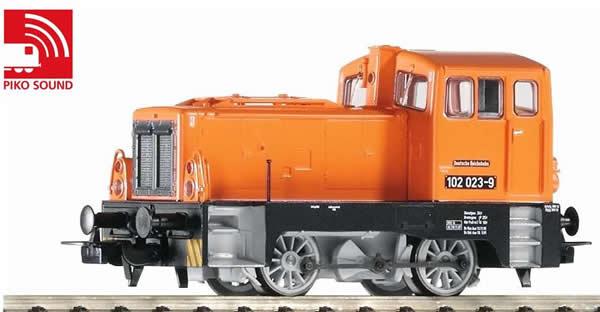 Piko 52544 - German Diesel Locomotive BR 101 of the DR - orange (DCC Sound Decoder)