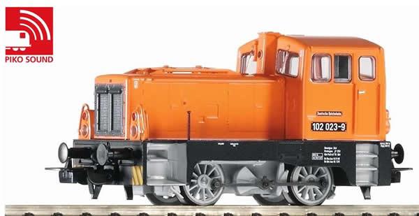 Piko 52545 - German Diesel Locomotive BR 101 of the DR - orange (Sound Decoder)