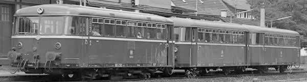 Piko 52723 - German Railbus 798 with Trailer 998.6 of the DB (Sound)