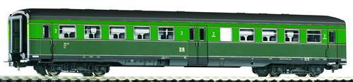 Piko 53209 - Corridor Coach 2nd Cl. DR III, Lt/Dk Green