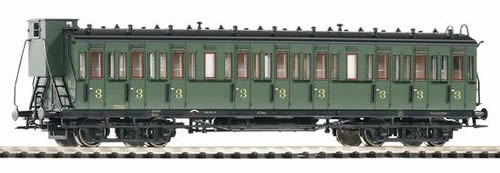 Piko 53314 - Comp.Car 3rd Cl. w/Brake Cab SNCB III