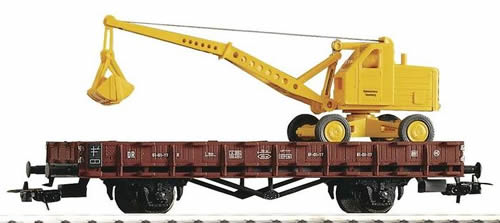 Piko 54128 - Flatcar R61 w/Excavator DR III