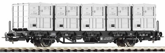 Piko 54428 - Flatcar w/5 Containers Btmm DR