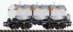 Piko 54451 - 3 Silo Container Car OOk DR III