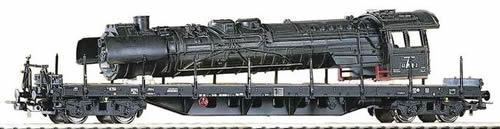 Piko 54803 - Flatcar w/Loco Boiler Load DR IV