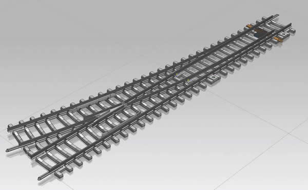 Piko 55171 - Turnout, right WR with concrete sleepers