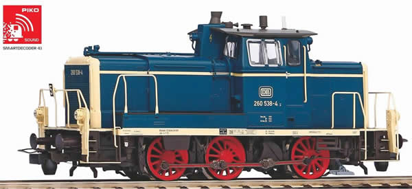 Piko 55900 - German Diesel Locomotive BR 260 of the DB (DCC Sound Decoder)