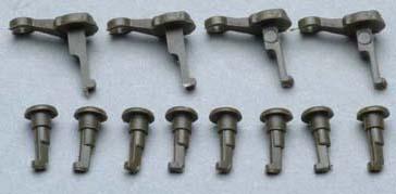 Piko 56080 - Crankpins Dark Gray Set of 8+4
