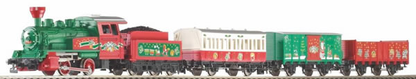 Piko 57081 - Christmas starter set steam locomotive with 3 carriages
