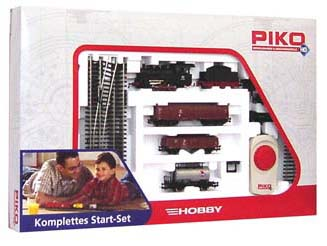 Piko 57160 - Steam Loco & Tender Freight Starter Set 120V
