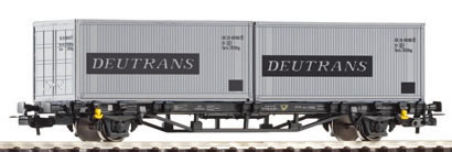 Piko 57747 - Flatcar w/2x Containers Deutrans DR IV