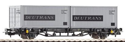 Piko 57747 - Flatcar w/2x Containers Deutrans DR IV
