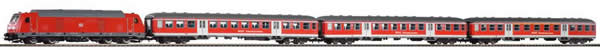 Piko 58133 - German Train Set with Diesel Locomotive BR 245 with commuter car of the DB AG