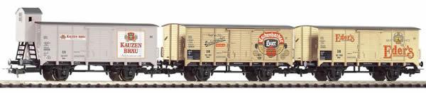 Piko 58353 - 3pc Beer wagon set