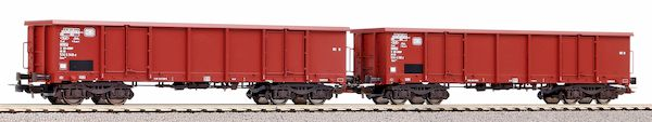 Piko 58381 - Set of 2 open freight wagons Eaos of the DB