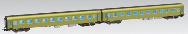 Piko 58390 - Set of 2 Passenger Cars 111A of the PKP