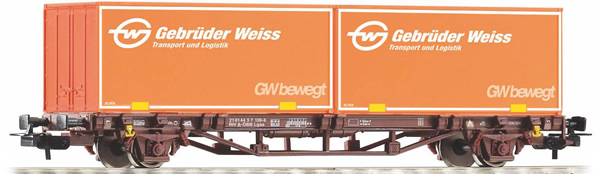 Piko 58779 - Container wagon Gebrüder Weiss of the ÖBB