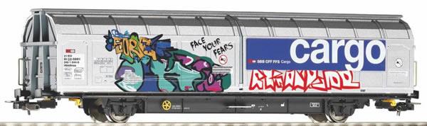 Piko 58966 - Hbbillnss SBB open-space sliding wall wagon