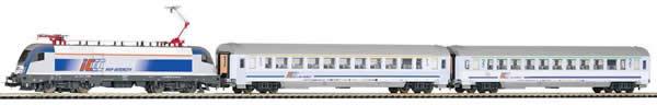 Piko 59002 - PIKO SmartControl® light Set passenger train E-loc Taurus with 2 passenger cars PKP