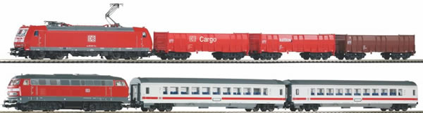 Piko 59013 - SmartControl light 2-train set BR 185 + BR 218 of the DB AG
