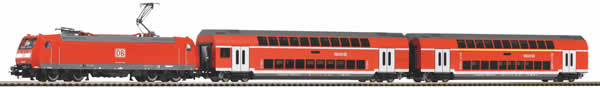 Piko 59023 - PIKO SmartControl light set with ballast track DB AG Double-decker passenger train