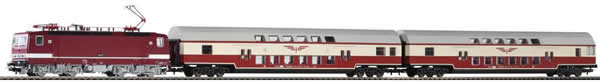 Piko 59117 - Starter Set - German Electric Locomotive BR 243 & 2 Passenger Cars of the DR (Sound)