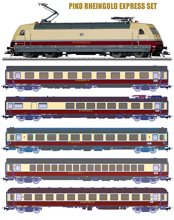 Piko 710811 - Tee Rheingold Express Set