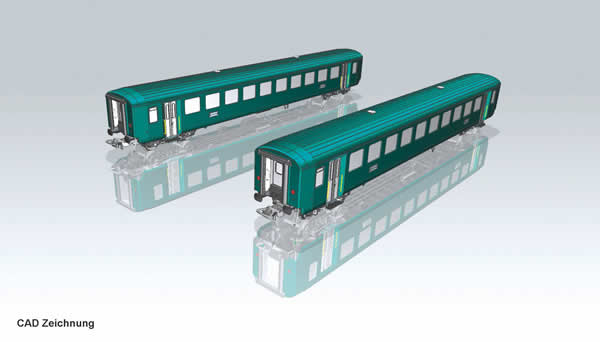 Piko 96782 - 2pc EW I Car Set2nd class