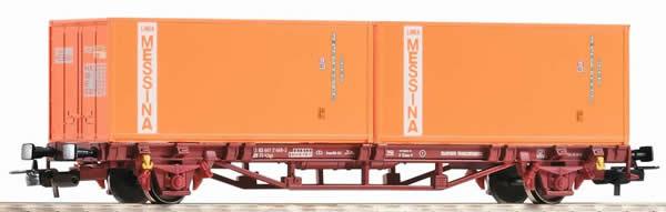 Piko 97061 - Container Car 2x20 Container Messina
