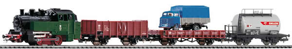 Piko 97907 - Starter Set - Polish Steam Locomotive & 3 Freight Cars of the PKP