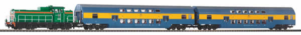 Piko 97924 - Start set SM42 with double-decker carriage PKP