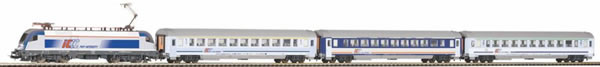 Piko 97931 - Starter set with bedding E-Lok Taurus with 3 IC wagons PKP