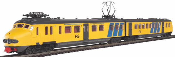 Piko 97932 - Starter set with ballast track electric locomotive Hondekop NS
